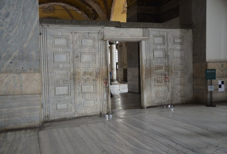 Door to the Holy and Sacred Synod at Hagia Sophia in Istanbul, Turkey