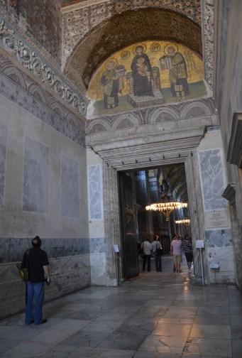 Southwest vestibule at Hagia Sophia in Istanbul, Turkey
