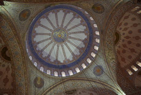 Dome of the Sultan Ahmet Camii (Blue Mosque) in Fatih, Istanbul, Turkey
