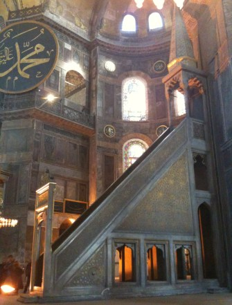 Minbar at Hagia Sophia in Istanbul, Turkey