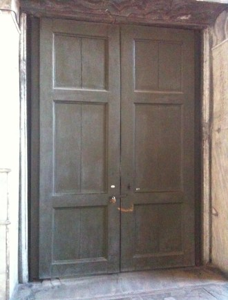 Door to the Ecumenical Patriarch's office at Hagia Sophia in Istanbul, Turkey