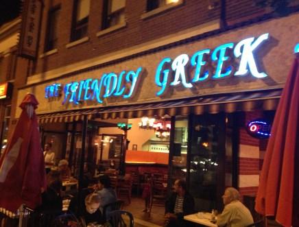 The Friendly Greek in Greektown, Toronto, Ontario, Canada