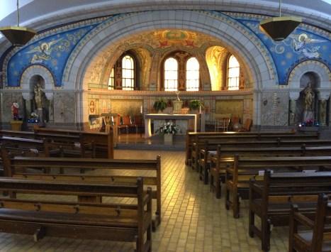Blessed Sacrament Chapel at Sainte-Anne-de-Beaupré in Québec, Canada