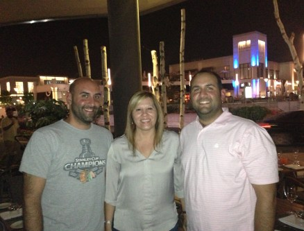 With my cousin and brother at Quartier DIX30 in Brossard, Québec, Canada