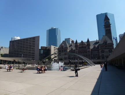 Nathan Phillips Square in Toronto, Ontario, Canada