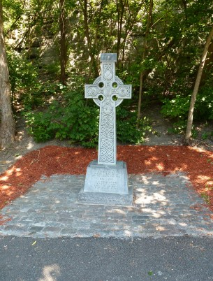 Celtic cross memorial in Major's Hill Park in Ottawa, Ontario, Canada