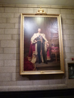 Portrait of King George V in the Senate foyer at Parliament Centre Block in Ottawa, Ontario Canada