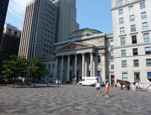 Banque de Montréal at Place d'Armes in Vieux-Montréal, Québec, Canada