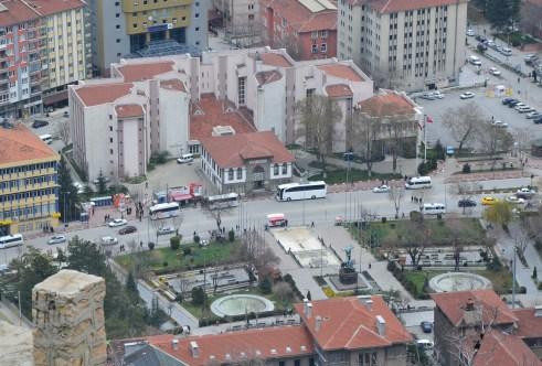 Zafer Meydanı from Afyon Kalesi in Afyon, Turkey