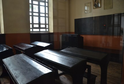 Classroom at Halki Seminary on Heybeliada, Princes' Islands, Istanbul, Turkey