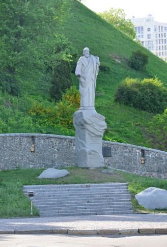 Statue of St. Andrew at Askold's Grave Park in Kiev, Ukraine