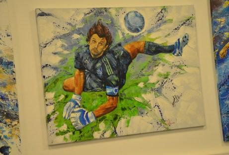 Gallery at Olimpiyskiy National Sports Complex in Kiev, Ukraine