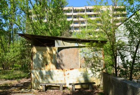Vegetable stand in Pripyat, Chernobyl Exclusion Zone, Ukraine