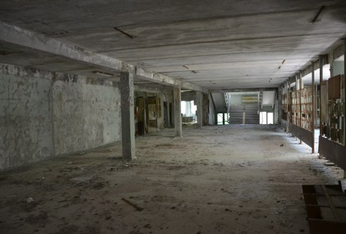 Lobby at Middle School #5 in Pripyat, Chernobyl Exclusion Zone, Ukraine
