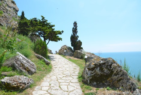 The path to the end of the cape at Kaliakra, Bulgaria