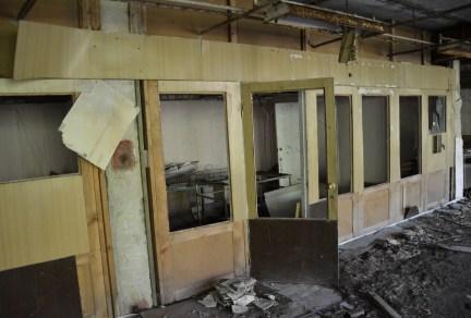 "Office at Public Pool ""Lazurny"" in Pripyat, Chernobyl Exclusion Zone, Ukraine"