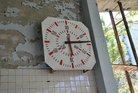"Public Pool ""Lazurny"" in Pripyat, Chernobyl Exclusion Zone, Ukraine"