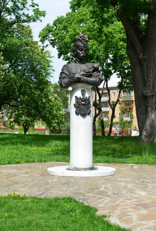 Ivan Mazepa monument at Detinets Park in Chernihiv, Ukraine