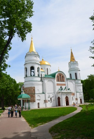 Transfiguration Cathedral at Detinets Park in Chernihiv, Ukraine