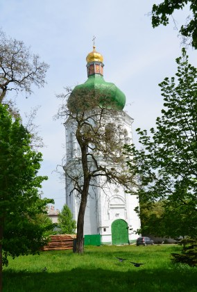 Bell tower at Eletsky Monastery in Chernihiv, Ukraine