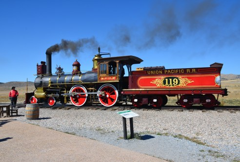 Union Pacific No. 119 at Golden Spike National Historic Site, Promontory Summit, Utah