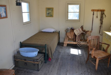 Ranch hand's room at Fielding Garr Ranch at Antelope Island State Park in Utah