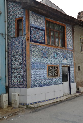 House with Kütahya tiles in Kütahya, Turkey