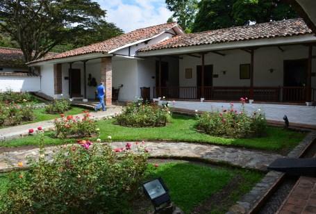 Patio at Hacienda El Paraíso in Valle del Cauca, Colombia