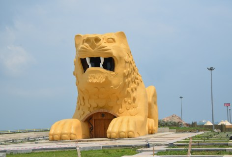 Anatolian lion at Amazon Adası in Samsun, Turkey