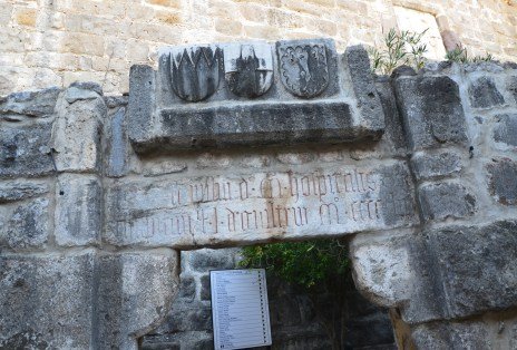Coat of arms of the Knights Hospitaller at the Castle of St. Peter in Bodrum, Turkey