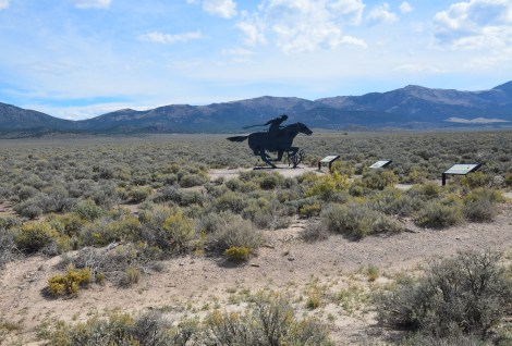 Pony Express trail at the Schellbourne Rest Area in Nevada