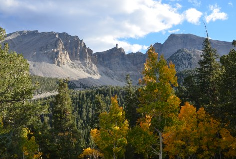 The view from Wheeler Peak Campground at Great Basin National Park in Nevada