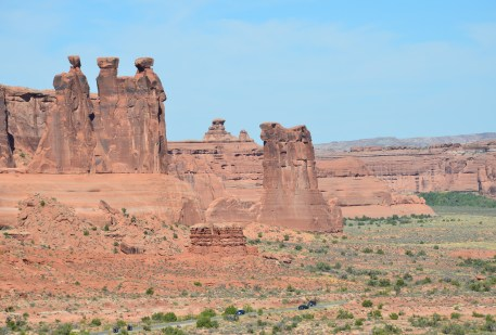 La Sal Mountains Viewpoint at Arches National Park, Utah