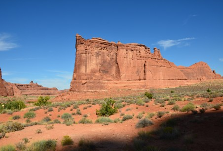 Tower of Babel at Courthouse Towers Viewpoint at Arches National Park, Utah