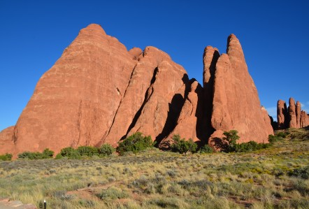 Sand Dune Arch Trail at Arches National Park in Utah