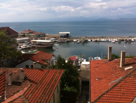 View from the Reis Otel in Sinop, Turkey