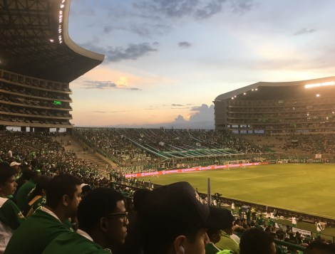 Estadio Deportivo Cali looking toward the south end in Palmira, Valle del Cauca, Colombia