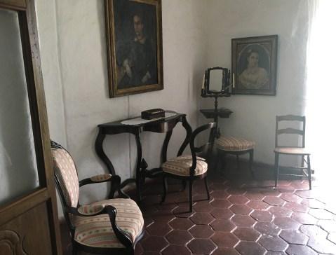 María's room at Hacienda El Paraíso in Valle del Cauca, Colombia