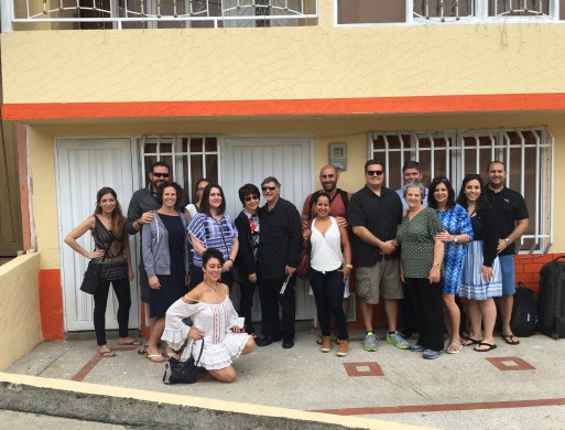Family and friends in front of our house in Belén