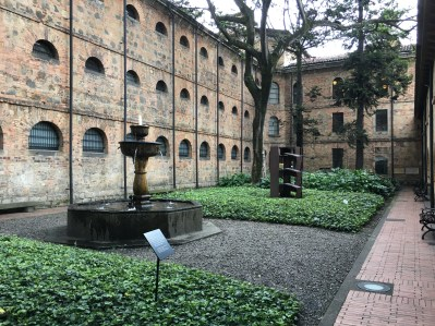Courtyard of the Museo Nacional in Bogotá, Colombia