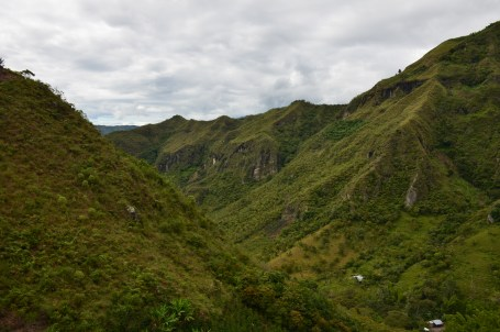 Our view after the first climb at Tierradentro, Cauca, Colombia