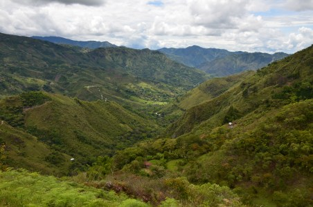 The view from the trail heading up at Tierradentro, Cauca, Colombia