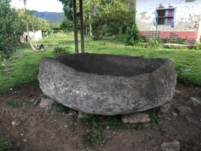 Stone bowl at El Hato at Tierradentro, Cauca, Colombia