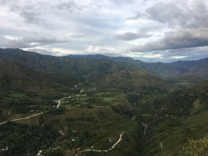 The view from the top of Pirámide near Inzá, Cauca, Colombia