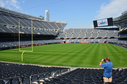 The field at Soldier Field in Chicago, Illinois