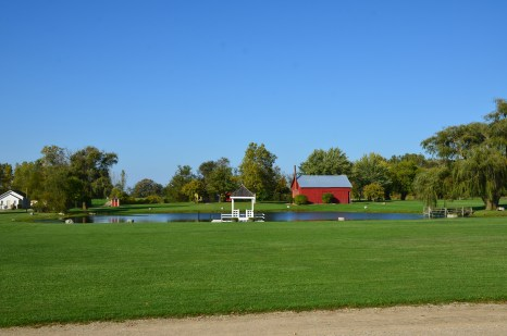 The grounds at Amish Acres in Nappanee, Indiana