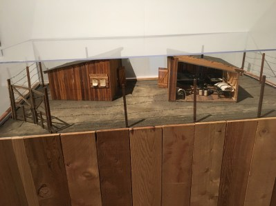 Model of a Japanese internment camp at the Wing Luke Museum in the International District in Seattle, Washington
