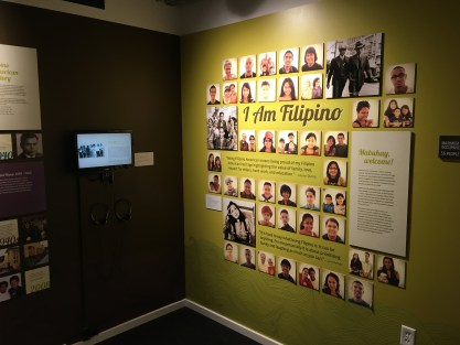 I Am Filipino at the Wing Luke Museum in the International District in Seattle, Washington
