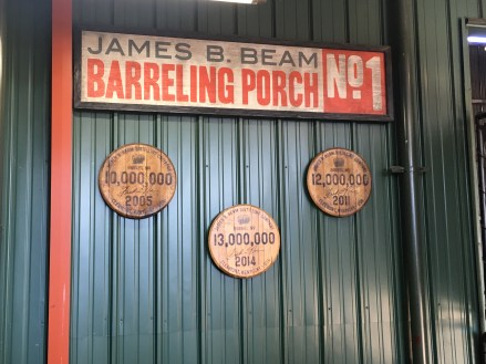 Barreling porch at Jim Beam American Stillhouse in Clermont, Kentucky