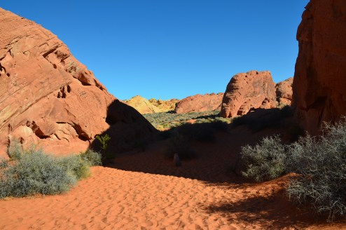 Beginning of the Rainbow Vista Trail at Valley of Fire State Park in Nevada